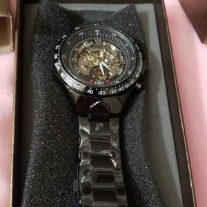 Automatic Mechanical watch black Men's watch w/BOX